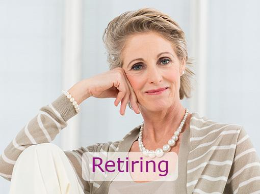 women retiring