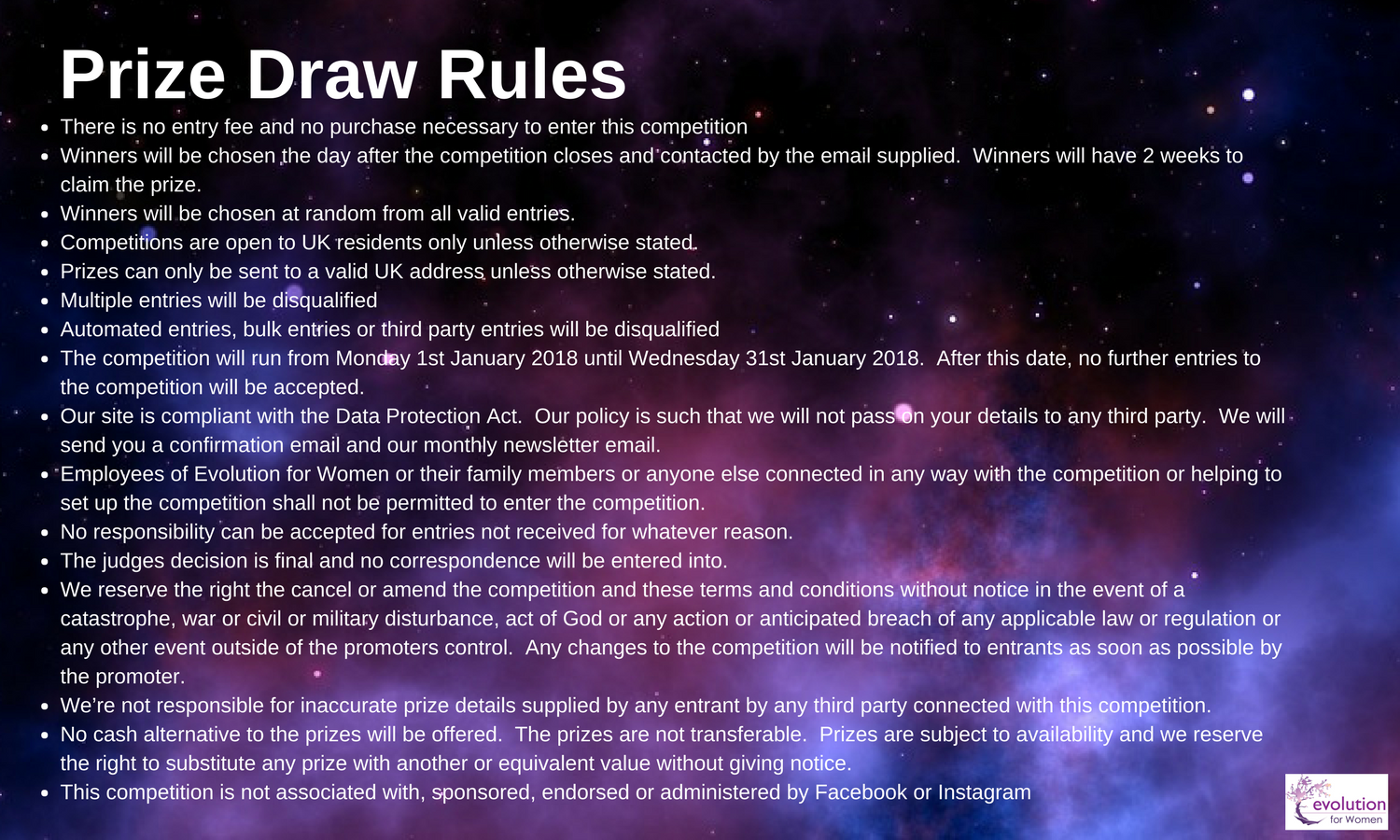 Prize Draw Rules